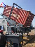油圧はめ込み容器の荷役傾く機械