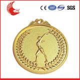 3D 디자인 아연 합금에 의하여 도금되는 은과 금 스포츠 메달