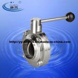 맞대기 용접 위생 버터 플라이 밸브 (100101)
