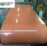 Popular diseño de patrón de madera de bobinas de acero