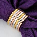 Bijou en cristal de mode de boucle de Multi-Cercle de Rhinestone d'Austrial plaqué par or