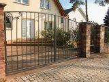 La decoración de lujo en la puerta de hierro forjado/Revestimiento de polvo negro Casa Puerta principal