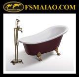 Bañera libre de la elipse clásica del Rojo-Color (BA-8305)