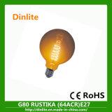 Bulbo de alta qualidade G80 do vintage do globo transparente com CE e RoHS