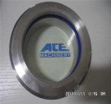 Venda a quente de aço inoxidável do tanque de leite SS316L visor flangeado sanitárias com limpador de para-brisa