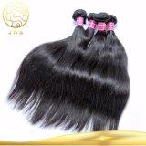 安くまっすぐにブラジルのバージンの黒の人間の毛髪の織り方