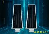 Capteur de mouvement intelligent tout-en-un Rue lumière solaire avec batterie au lithium
