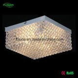 Hotelホールのための現代Square Crystal Ceiling Lamp