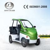 Vehículo eléctrico de poca velocidad del color verde mini