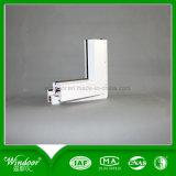 Quatro indicador de vidro do perfil da cor UPVC com o indicador e a porta de projeto da grade