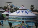 Partido al aire libre en la azotea de Lujo Evento Carpa Yurta Mongol