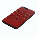 Caja del teléfono móvil de la goma TPU de la PU para el iPhone 8plus