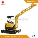 Km8035 Small Excavator Zero Swing 3500kg with Swing Boom