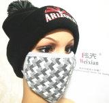 hecho personalizado a la orden, la tapa de tejido, Beanie, máscaras de moda, imprimir y bordar la tapa