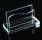De Tribune van de Kaart van het Kristal van de Vorm van de diamant, de Houder van de Kaart van het Glas