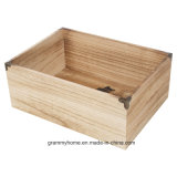 Caixas de armazenamento de madeira de 2 peças em caixas Country Club Nested Sturdy Frutas Alimentos Veg