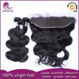 Capelli umani brasiliani 100% del tessuto dei capelli umani del Virgin del commercio all'ingrosso