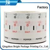 2018 de PE laminada de alimentación de la fábrica de papel para paquete de sal Pimienta