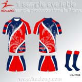 Design Custom-Made OEM Healong juventude se sublima Rugby Club Sport modelo uniforme