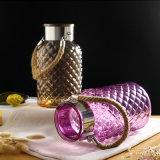 Vase en verre de configuration de diamant pour la décoration ou le cadeau à la maison