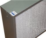 De diepe Plooi Gegalvaniseerde Filter van de Lucht van het Frame van het Staal HEPA H13/H14