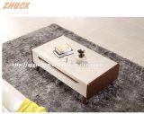 Mesa de comedor de madera nórdica Mesa de comedor de vidrio templado Muebles para el hogar