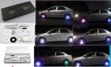 La luz de la rueda de coche programable, con 40 LEDs de color cambiante de la luz de la llanta de coche