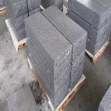 Pietra naturale bianca della scala del granito del Bethel di superficie Polished per la facciata della parete/le mattonelle & paracarro fiammeggiati di pavimentazione ciechi di punto del blocco