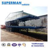 De cargo 80t del transporte acoplado plano resistente del carro semi
