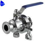 Шариковый клапан санитарного Tri клевера совместимый встроенный с пусковой площадкой держателя