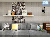 Tuile auto-adhésive de panneau de mur de la mousse 3D du papier de mur XPE