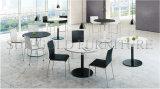 Mesa de conferência de escritório móvel de madeira curvada de quarto redondo moderno (SZ-MT118-1)
