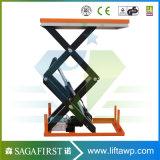Scissor hydraulische hölzerne Aufzug-Rolle der Kapazitäts-2000kg Aufzug-Tisch