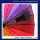 مستقيمة قوس قزح مظلة صامد للريح مسيكة و [أنتي-وف] سيّارة مفتوحة كبيرة [سون-رين] مظلة لأنّ نساء