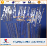 Cemento que refuerza la fibra fibrilada del acoplamiento de los PP de las fibras del polipropileno
