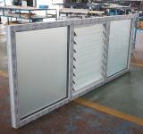 백색 색깔 UPVC 단면도 단면도 유리제 셔터 Windows K02038