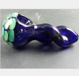 Blaues Rohr-Glasfilter-Rauch-Rohr-Grün-Bienenwabe-Filter