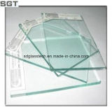 O vidro float incolor de vidro temperado com bordas polidas