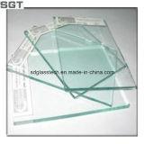 Vidrio templado Vidrio Flotado transparente con bordes pulidos
