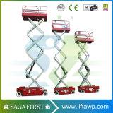Volle elektrische hydraulische Luftaufzug-Tabelle 6m 8m 10m selbstangetrieben