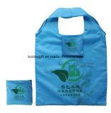 Custom Printed Reusable Folding Polyester Shopping Bag