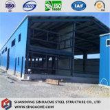 Structure en acier préfabriqués de résistance de tremblement de terre en Afrique de l'entrepôt