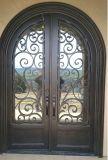 Doble modernas de seguridad Puertas de hierro forjado.