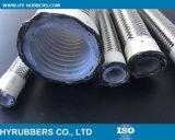 La alta temperatura PTFE Teflon Hose trenzado de acero inoxidable PTFE Tubo corrugado de/.