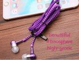 Горячая продажа молнии металлические наушники-вкладыши для наушников с микрофоном
