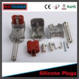 fiches 220V/600V électriques industrielles avec la tête en caoutchouc de silicones