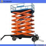 Plataforma de Trabalho da antena de plataforma elevatória tipo tesoura hidráulica