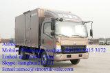2018년 Sinotruk HOWO 4X2 디젤 엔진 6 톤 Light Duty 밴 Box Truck