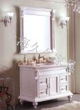 Madera maciza cuarto de baño con espejo en el tipo de muebles de baño clásico marcos