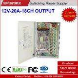 12V 20A 18CH Ausgabe CCTV-Kamera-Schaltungs-Stromversorgung